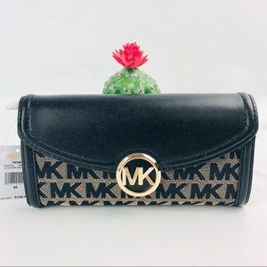 Authentic Michael Kors Fulton Long LG Flip Wallet